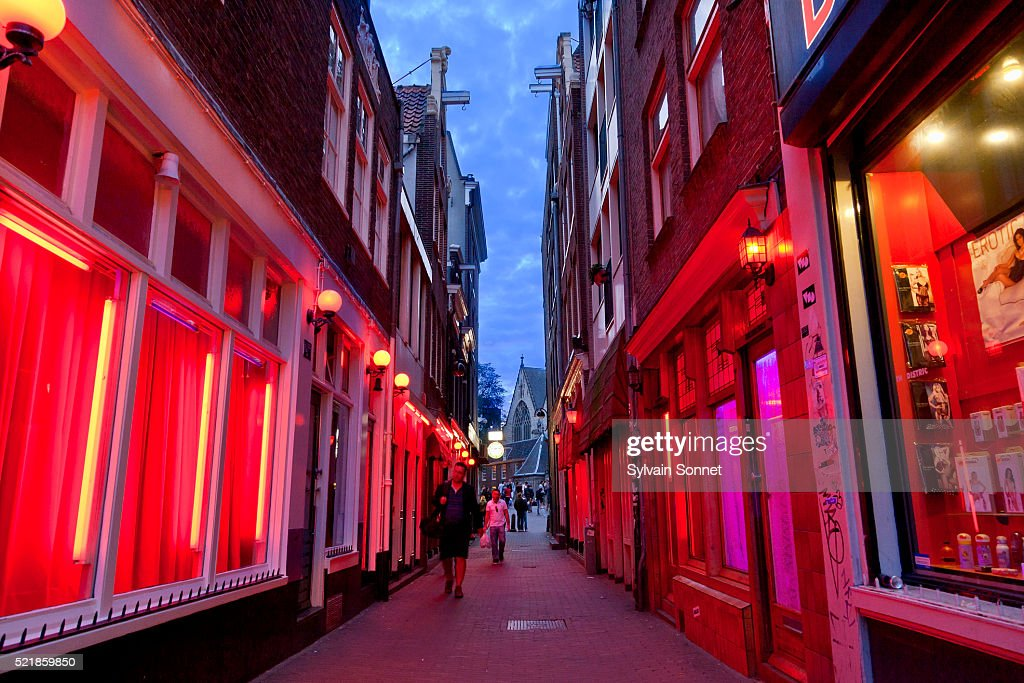 Amsterdam, The Red Light District : Stock Photo