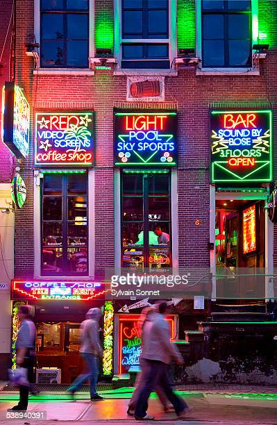 amsterdam, the red light district - red light district stock pictures, royalty-free photos & images