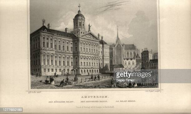Amsterdam. The Royal Palace, View of Koninklijk Paleis in Amsterdam, signed: Cooke, W. ; Joh. Poppel , After p. 442, S. 659, Cooke, W. ; Poppel,...