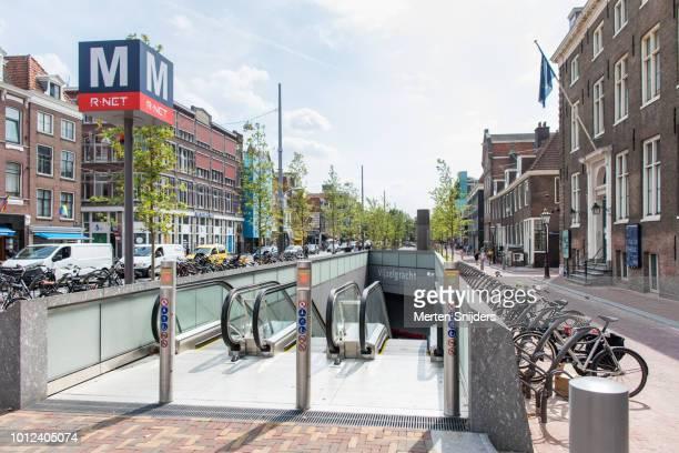 amsterdam vijzelgracht metrostation - merten snijders photos et images de collection