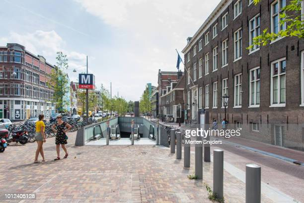 amsterdam vijzelgracht metrostation - merten snijders stock pictures, royalty-free photos & images