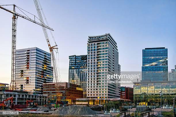 Amsterdam Zuidas under construction