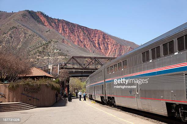 Amtrack train at Glenwood Springs Colorado Depot