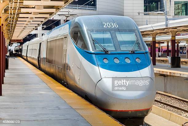 Amtrak Acela Express Train at Boston's South Station