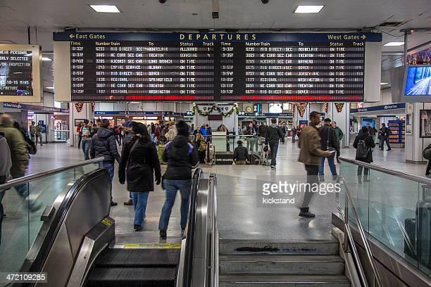 Amtrak departures board, Penn Station