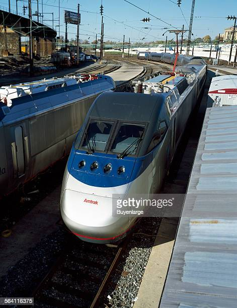 Amtrak new Acela Express trainset during testing in Philadelphia Pennsylvania