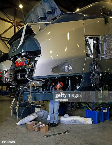 Amtrak new Acela Express trainset is assembled at the Bombardier plant in Barre Vermont