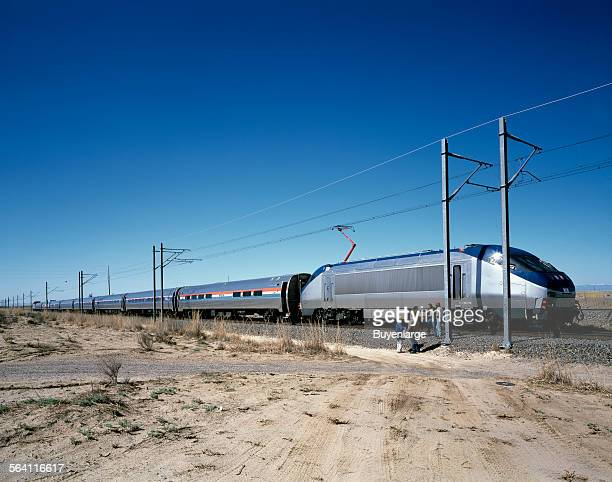 Amtrak new Acela Express trainset left at its test site in Pueblo Colorado prior to its introduction