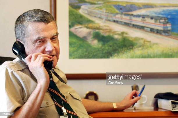 Amtrak President David Gunn speaks to Toronto Star reporter Bill Walker July 1 2002 during a telephone interview in Washington DC Gunn was the Chief...