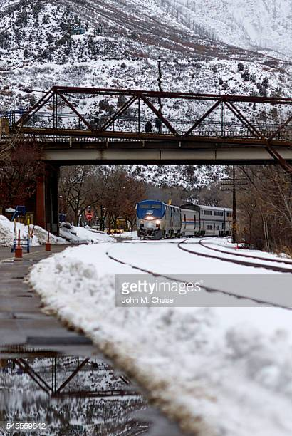 "Amtrak's ""California Zephyr"" Train Arrives in Glenwood Springs, Colorado"
