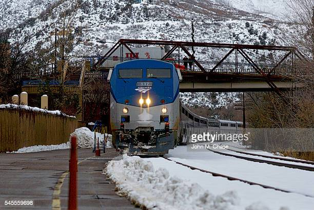 Amtrak's 'California Zephyr' Train Arrives in Glenwood Springs, Colorado