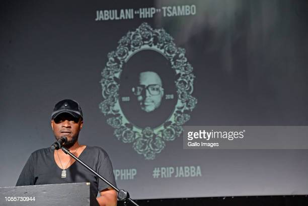 Amu during the memorial service of the late musician Jabulani 'HHP' Tsambo at Bassline on October 30 2018 in Johanneburg South Africa HHP wellknown...