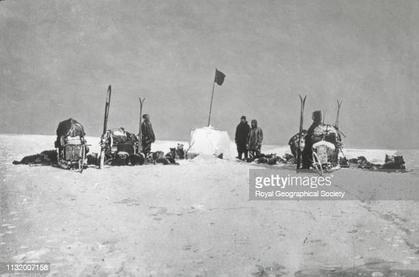 Amundsen at the South Pole Norwegian Antarctic Expedition 19101912 1911 Artist Roald Amundsen
