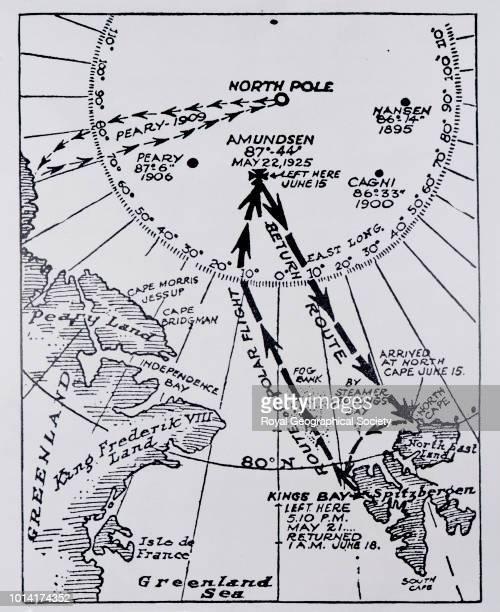 Amundsen's route Arctic 1925 North Pole Flight Expedition 1925