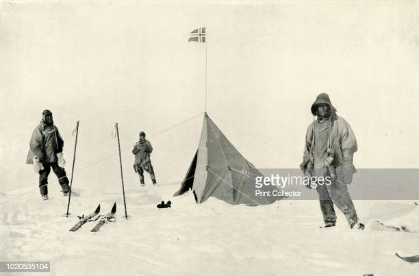 Amundsen's Tent at the South Pole' January 1912 Expedition leader Captain Robert F Scott Dr Edward Wilson and Petty Officer Edgar Evans died on the...