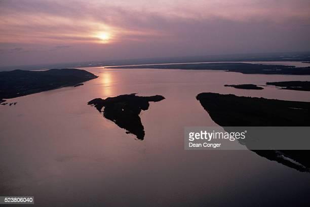Amur River Delta at Sunset