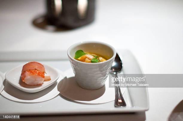 amuse (custard) - chawanmushi stock pictures, royalty-free photos & images