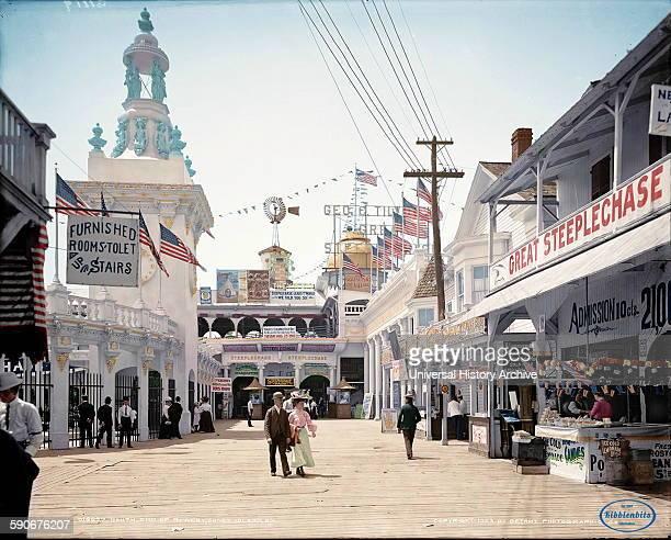 Amusement park on Coney Island Bowery New York Brooklyn 1903