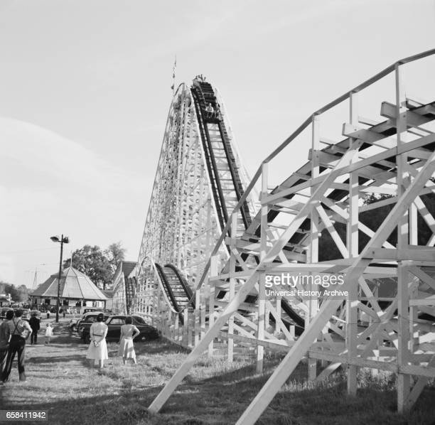 Amusement Park Roller Coaster Southington Connecticut USA Fenno Jacobs for Office of War Information May 1942