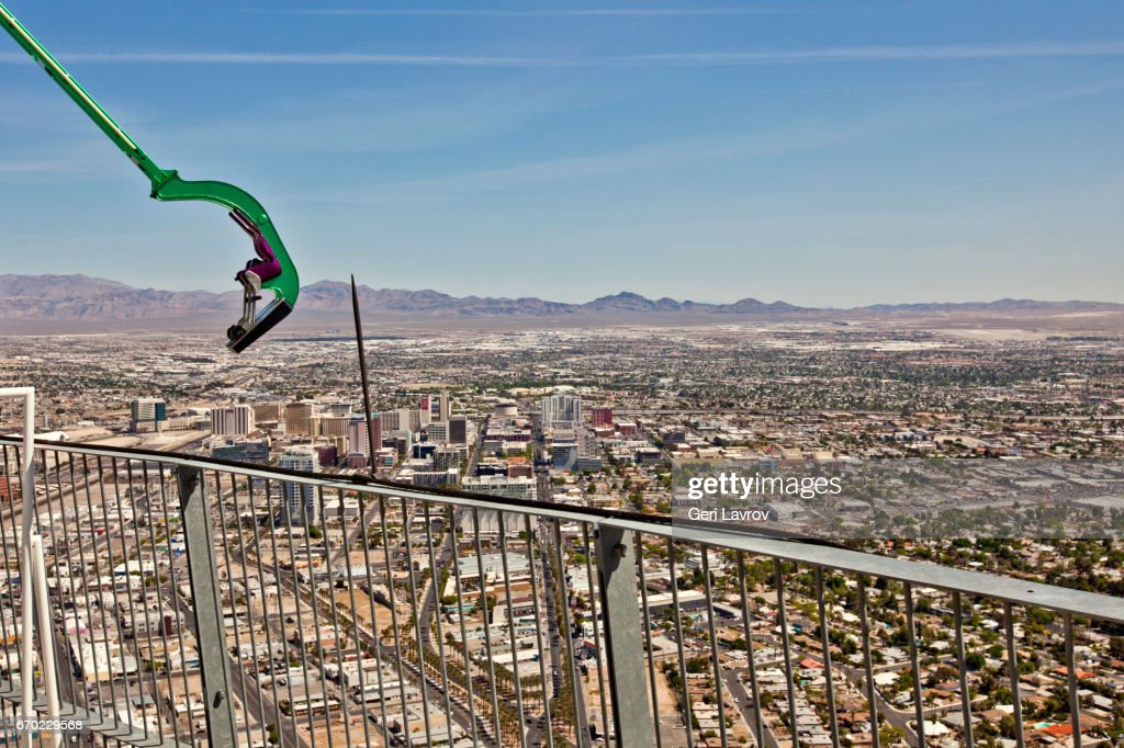 Amusement Ride And View From The Top Of The Stratosphere Las Vegas