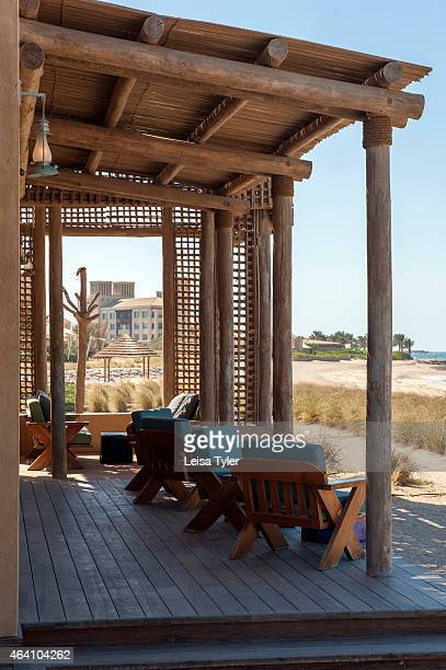 Amwaj restaurant at the Anantara Desert Islands on Sir Bani Yas an island in the Persian Gulf and once the private retreat of the United Arab...