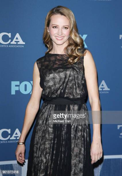 Amy Acker arrives at the 2018 Winter TCA Tour FOX AllStar Party held at The Langham Huntington on January 4 2018 in Pasadena California