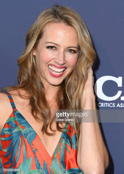 Amy Acker arrives at the FOX Summer TCA 2018 AllStar Party at Soho House on August 2 2018 in West Hollywood California