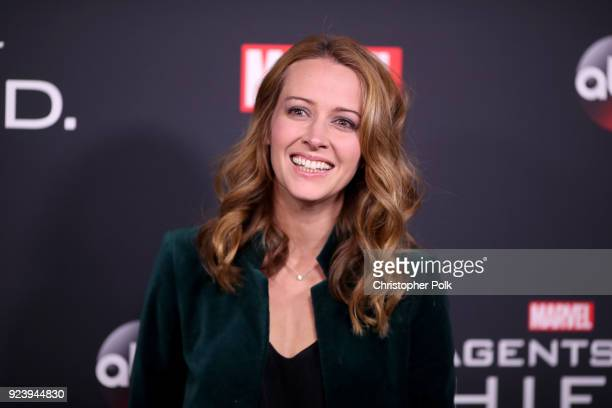 Amy Acker attends the 100th episode celebration of ABC's 'Marvel's Agents of SHIELD' at OHM Nightclub on February 24 2018 in Hollywood California