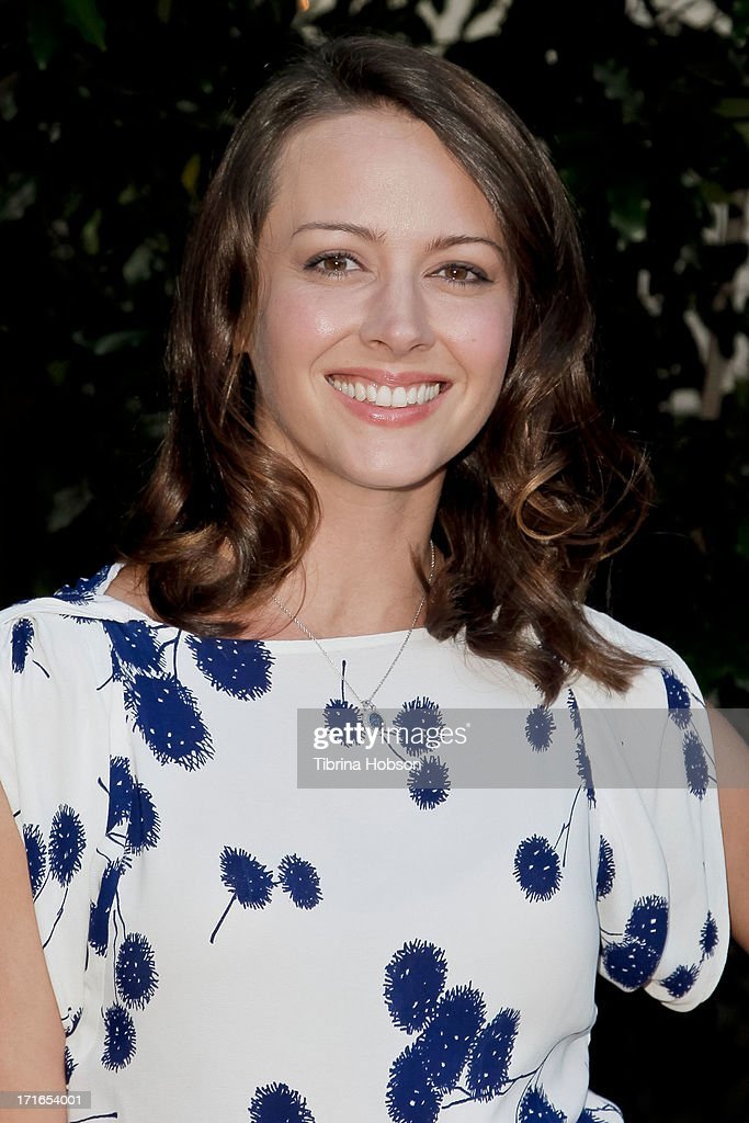 Amy Acker attends the Academy of Science Fiction, Fantasy & Horror Films 2013 Saturn Awards at The Castaway on June 26, 2013 in Burbank, California.
