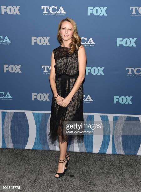 Amy Acker attends the FOX All-Star Party during the 2018 Winter TCA Tour at The Langham Huntington, Pasadena on January 4, 2018 in Pasadena,...