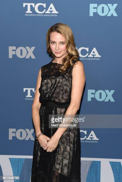 Amy Acker attends the FOX AllStar Party during the 2018 Winter TCA Tour at The Langham Huntington Pasadena on January 4 2018 in Pasadena California
