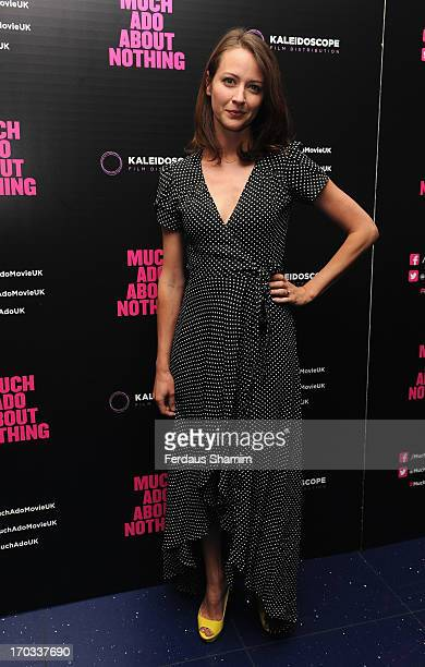 Amy Acker attends the gala screening of 'Much Ado About Nothing' at Apollo Piccadilly Circus on June 11, 2013 in London, England.