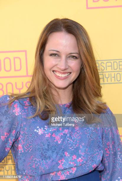 Amy Acker attends the opening night performance of Good Boys at Pasadena Playhouse on June 30 2019 in Pasadena California