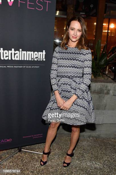 Amy Acker attends the SCAD aTVfest and Entertainment Weekly party at Lure on February 8, 2019 in Atlanta, Georgia.