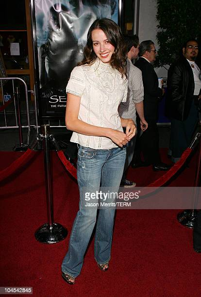 Amy Acker during 'Serenity' Los Angeles Premiere at Universal City Cinemas in Universal City California United States