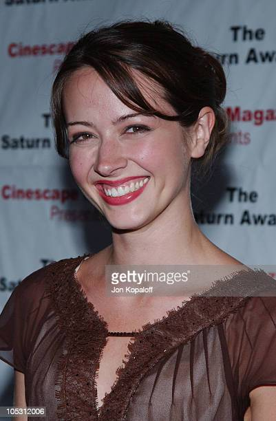 Amy Acker during The 30th Annual Saturn Awards - Arrivals at Sheraton Universal Hotel in Universal City, California, United States.