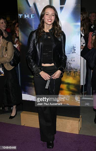 Amy Acker during The WB Network AllStar Celebration Arrivals at The Highlands in Hollywood California United States