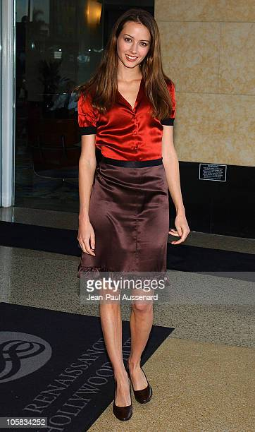 Amy Acker during The WB Networks 2004 TCA Arrivals at Renaissance Hotel in Hollywood California United States