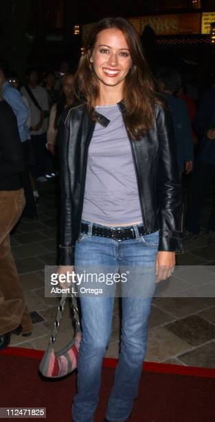 "Amy Acker of ""Angel"" during KTLA and The WB Host Wednesday Season Premiere Party for ""Angel"" and ""Smallville"" at The Grove in Los Angeles,..."