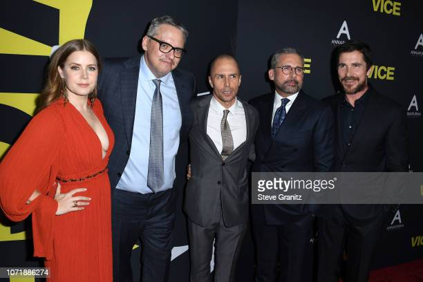 Amy Adams Adam McKay Sam Rockwell Steve Carell and Christian Bale attend Annapurna Pictures Gary Sanchez Productions and Plan B Entertainment's World...