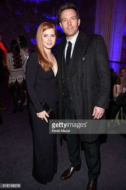 """Amy Adams and Ben Affleck attend the after party for """"Batman V Superman: Dawn Of Justice"""" on March 20, 2016 in New York City."""