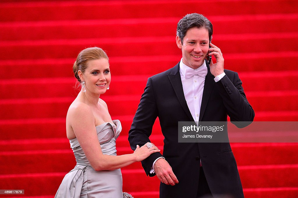 Amy Adams and Darren Gallo attend the 'Charles James: Beyond Fashion' Costume Institute Gala at the Metropolitan Museum of Art on May 5, 2014 in New York City.