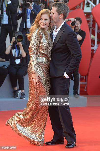 Amy Adams and Darren La Gallo attend the premiere of 'Nocturnal Animals' during the 73rd Venice Film Festival at on September 2 2016 in Venice Italy