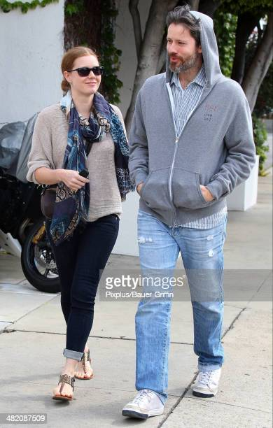 Amy Adams and Darren Le Gallo are seen on April 02 2014 in Los Angeles California