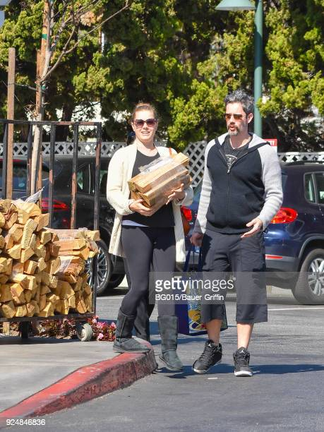Amy Adams and Darren Le Gallo are seen on February 26 2018 in Los Angeles California