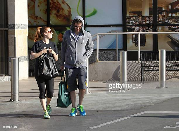 Amy Adams and Darren Le Gallo are seen on January 29 2014 in Los Angeles California