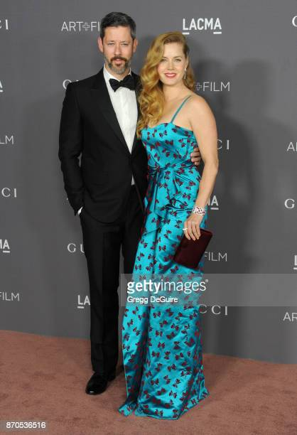 Amy Adams and Darren Le Gallo arrive at the 2017 LACMA Art Film Gala honoring Mark Bradford and George Lucas at LACMA on November 4 2017 in Los...