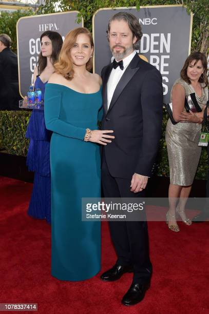 Amy Adams and Darren Le Gallo attend FIJI Water at the 76th Annual Golden Globe Awards on January 6 2019 at the Beverly Hilton in Los Angeles...