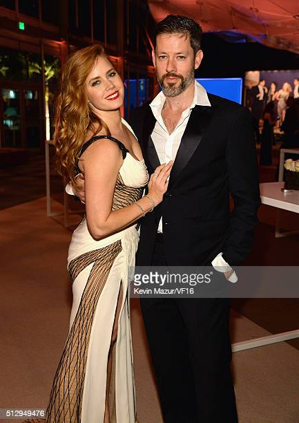 Amy Adams and Darren Le Gallo attend the 2016 Vanity Fair Oscar Party Hosted By Graydon Carter at the Wallis Annenberg Center for the Performing Arts...