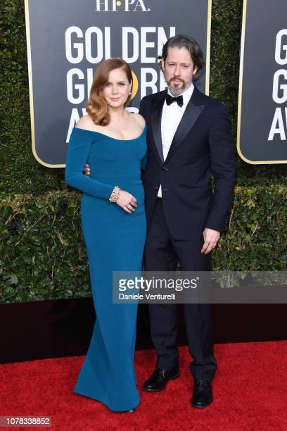 Amy Adams and Darren Le Gallo attend the 76th Annual Golden Globe Awards at The Beverly Hilton Hotel on January 6 2019 in Beverly Hills California